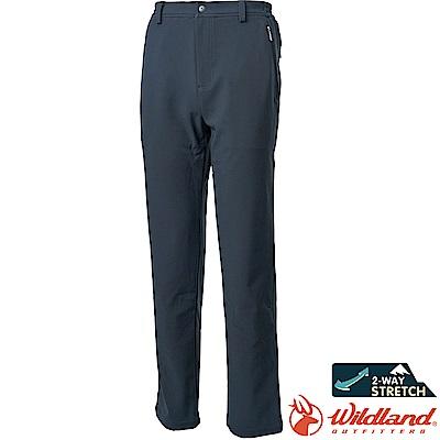 Wildland 荒野 0A62318-93深灰色 男SOFTSHELL防風長褲