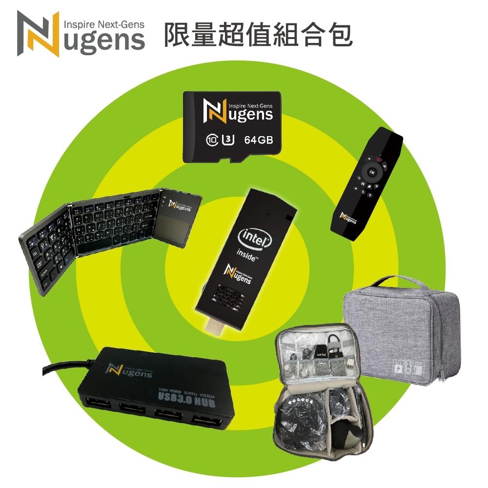 Nugens MiNi PC HDMI迷你電腦棒(4G/64G+64GMicroSD)全配