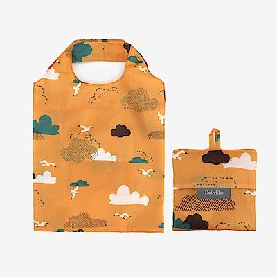 Dailylike 摺疊口袋購物袋S-07雲朵