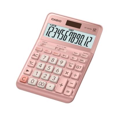 CASIO卡西歐-12位數稅率型商用計算機(DF-120FM-PK)粉色