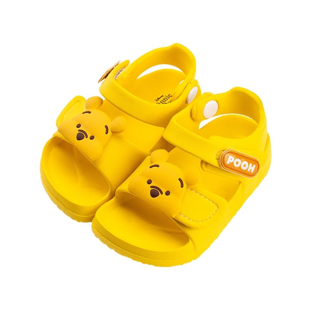 迪士尼童鞋 小熊維尼 立體造型防水涼鞋-黃(柏睿鞋業) product image 1