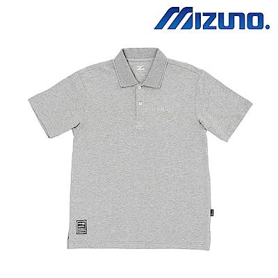 MIZUNO 美津濃 1906 短袖polo 灰 D2TA801505