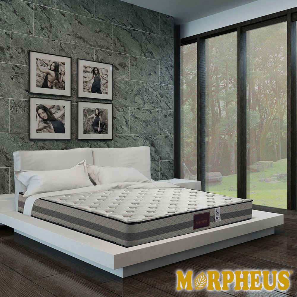 夢菲思 二線針織+乳膠+記憶膠蜂巢式獨立筒床墊-雙人加大6尺