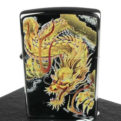 ZIPPO 日系~Bright Art-和柄龍圖案彩印加工打火機