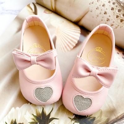 Swan天鵝童鞋-愛心學步寶寶鞋1613-粉