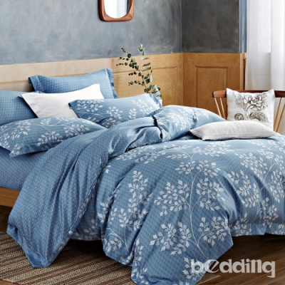 BEDDING-3M專利+頂級天絲-加大薄床包兩用被套四件組-旅途之秋
