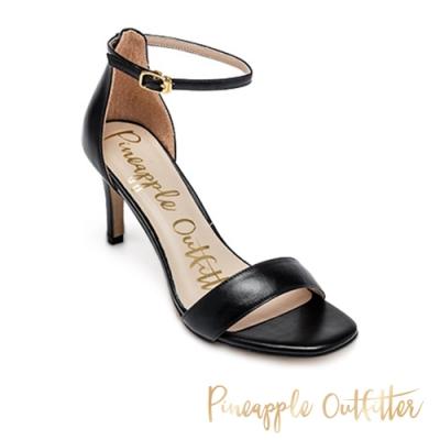 Pineapple Outfitter 氣質滿分 一字繞踝高跟涼鞋-黑色
