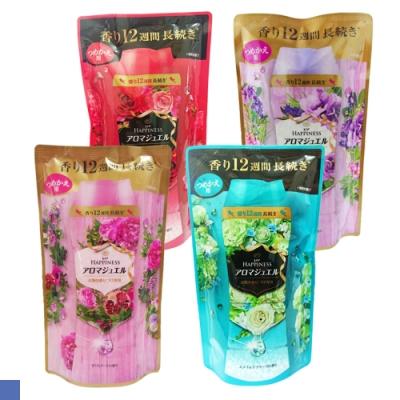 日本 P&G 香香豆 衣物芳香顆粒 補充包 455ml 四種香氣 6包組