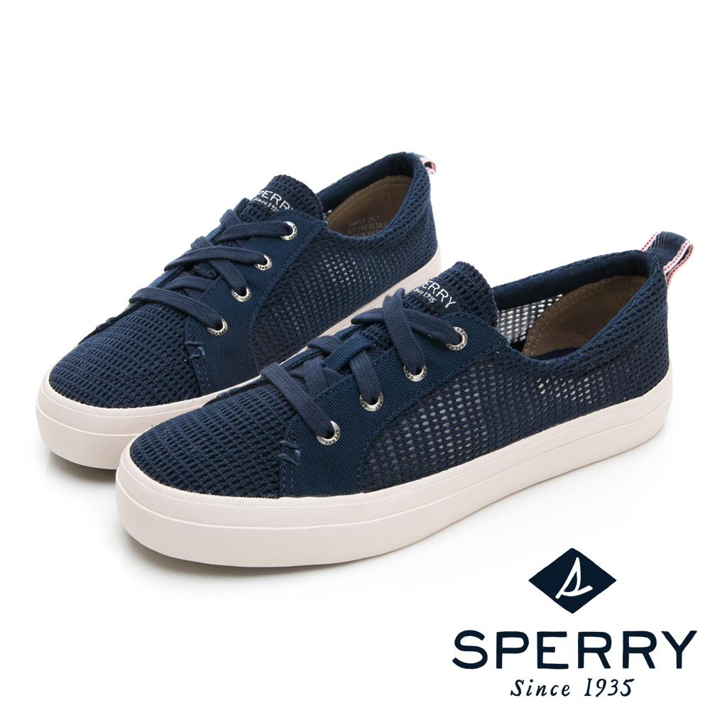 SPERRY 個性網格輕量休閒鞋-(女)-深藍