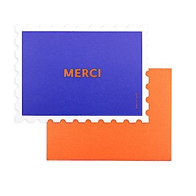 Dailylike 郵票造型卡片信封組-03 謝謝