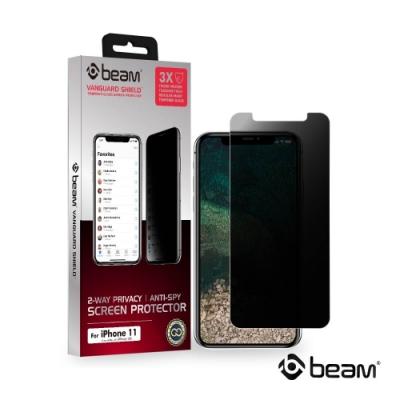 【BEAM】 iPhone 11/XR 雙向防窺耐衝擊鋼化玻璃保護貼