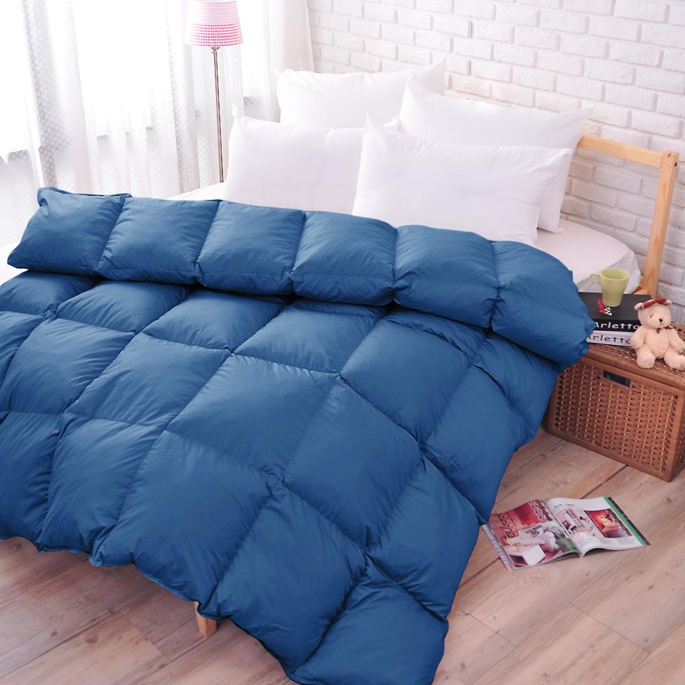 亞曼達Amanda 100%純天然雙人羽絨被--中藍 (1被2枕組合) @ Y!購物