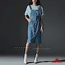 BRAPPERS 女款 Boy friend系列-前排釦彈性吊帶裙-淺藍