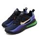 Nike 休閒鞋 Air Max 270 React 男鞋 海外限定 氣墊 避震 舒適 球鞋 穿搭 藍 黑 AO4971005 product thumbnail 1