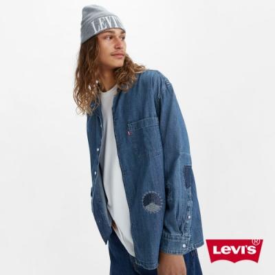 Levis 男款 牛仔襯衫 Oversize寬鬆版型 精工補丁細節