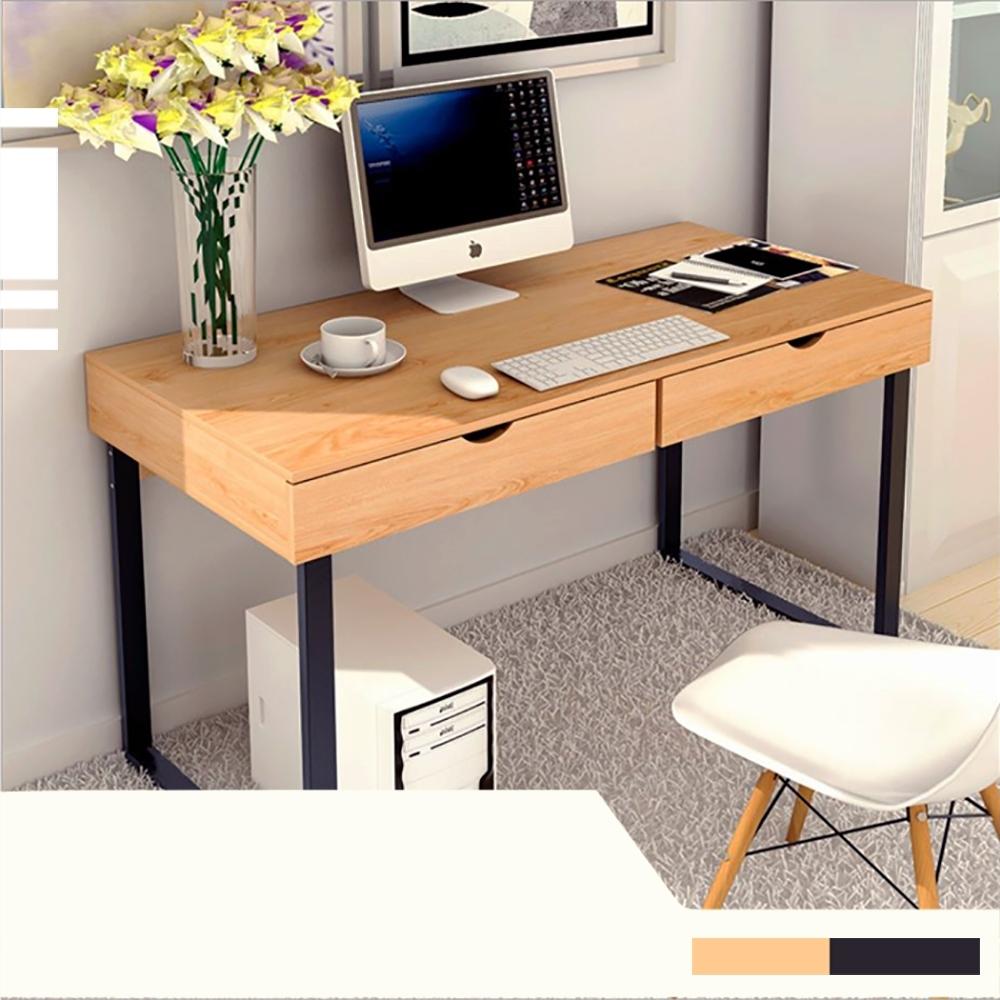【Incare】雙抽屜書桌收納辦公桌(48x100x74cm)