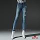 BRAPPERS 女款 新美腳 ROYAL系列-中低腰彈性割破窄管褲-藍 product thumbnail 1
