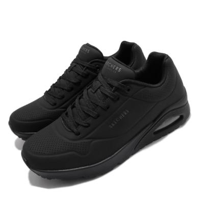 Skechers 休閒鞋 Uno Stand On Air 男鞋 增高 氣墊 記憶型泡棉鞋墊 支撐 黑 52458BBK