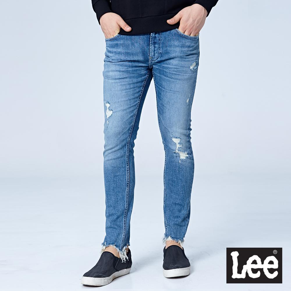 Lee 709低腰合身小直筒牛仔褲/RG-淺藍色