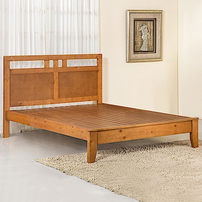 Homelike 石垣床架組-雙人5尺-154x198x105cm
