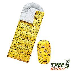 Tree Walker 高級柔軟舒適兒童捲筒睡袋 工程車(黃)