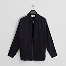 Hang Ten - 男裝 -有機棉 - 休閒風格純棉素面外套-藍色