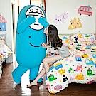 戀家小舖 / 雙人床包被套組  Sweet home甜蜜的家  雪紡絲磨毛  台灣製