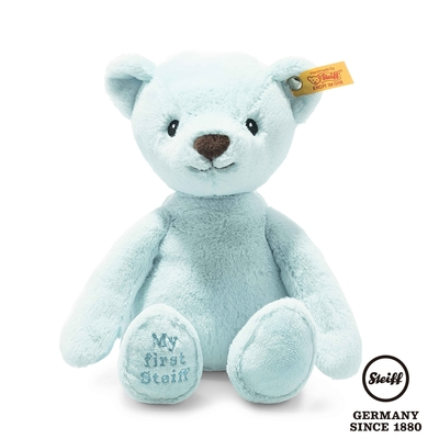STEIFF德國金耳釦泰迪熊  My first Steiff Teddy Bear  藍色小熊熊 (嬰幼兒玩偶)