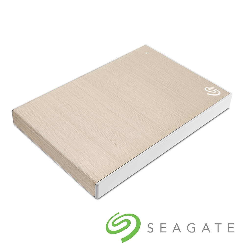 Seagate Backup Plus Slim 1TB 2.5吋 外接硬碟-香檳金