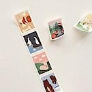 Dailylike 郵票造型紙膠帶(單捲)-05動物2