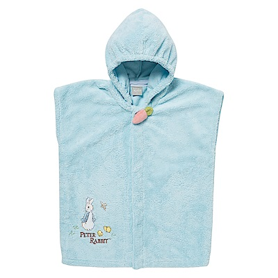 奇哥 比得兔吸濕快乾浴袍-藍(6M~2Y)