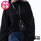 NATURALLY JOJO 運動時尚印字錢包(黑)