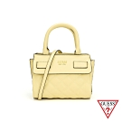 GUESS-女包-素面菱形壓紋手提包-黃