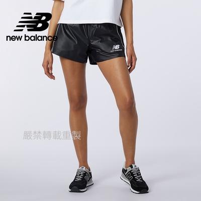 【New Balance】平織側邊條短褲_女性_黑色_AWS11503BM