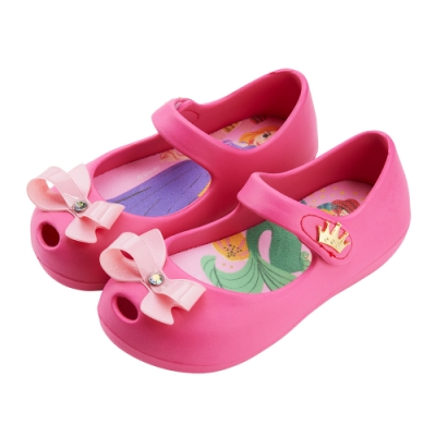 迪士尼童鞋  公主 不對稱造型娃娃鞋-桃(柏睿鞋業)