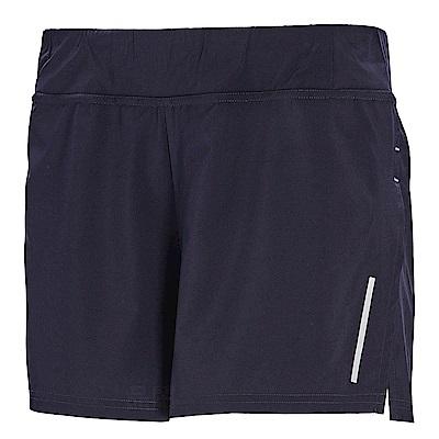 荒野【wildland】女透氣抗UV假兩件運動短褲深紫色