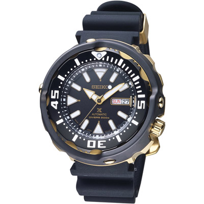 SEIKO Prospex 鮪魚罐頭潛水機械錶(SRPA82J1)黑x金/52mm