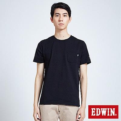 EDWIN 東京系列BASIC POCKET短袖T恤-男-黑色