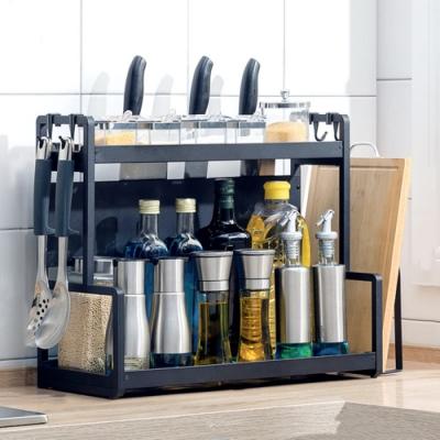 【HappyLife】50cm兩層廚房收納架+刀架+砧板架 50×22×41.5CM