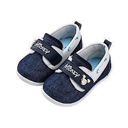 迪士尼童鞋 米奇 可愛扣飾寶寶鞋-藍