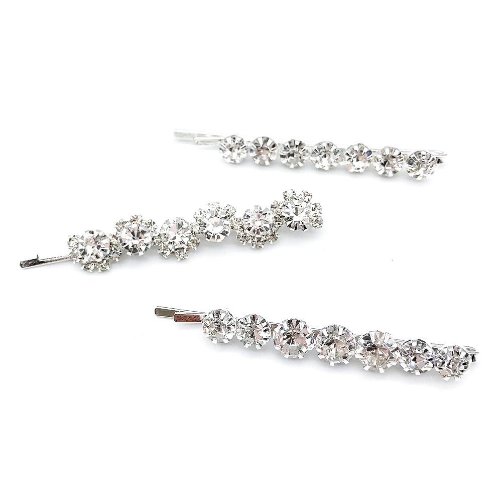 HERA 赫拉 華美奢華類鑽石一字夾3入組-2色