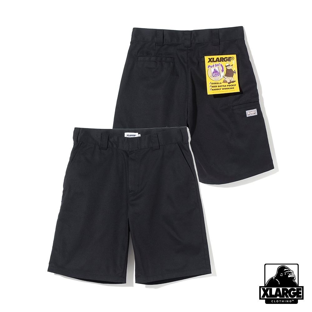 XLARGE SIDE PKT WORK SHORT 短工作褲-黑