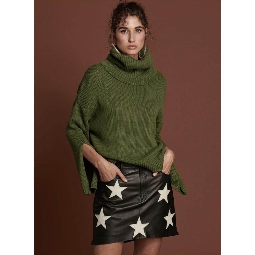 ONETEASPOON ROLL NECK SWEATER 毛衣-女(綠)