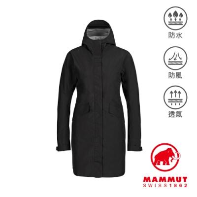 【Mammut 長毛象】Mammut 3L HS Hooded Jacket Men GTX多口袋連帽外套 黑色 女款 #1010-28570