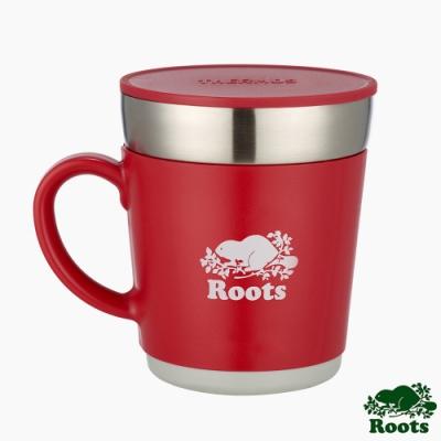 ROOTS X Thermos不銹鋼雙層保溫杯-紅