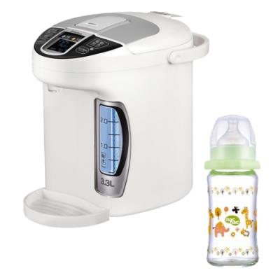 小獅王辛巴智能六段式定溫調乳器(S5)+nac nac吸吮力學寬口耐熱玻璃奶瓶240ml