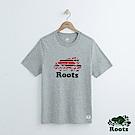男裝Roots 庫柏雙色LOGO短袖T恤-灰