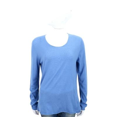 Andre Maurice 喀什米爾蔚藍色素面羊毛衫
