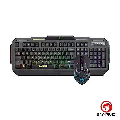 【MARVO魔蠍】KM413 電競鍵盤&滑鼠 超值組合-中文版