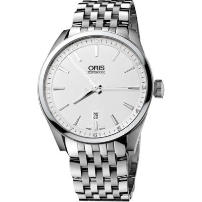 Oris ARTIX DATE 新大錶冠機械腕錶-銀/42mm 0173376424051